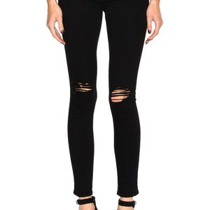 AG Ankle Legging Skinny jeans in Vintage Black